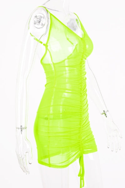 Bria Cover Up Dress (Neon Green)