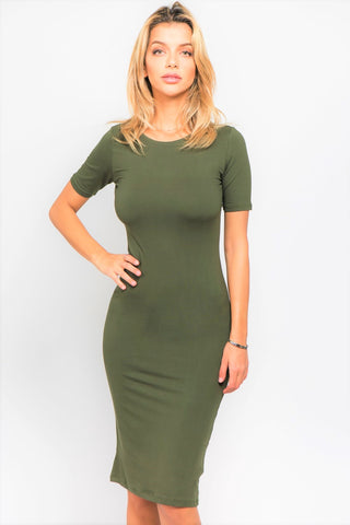 Michelle Dress (Dark Olive)