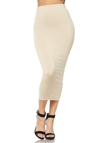 Kimmy Midi Skirt (Soft Taupe)