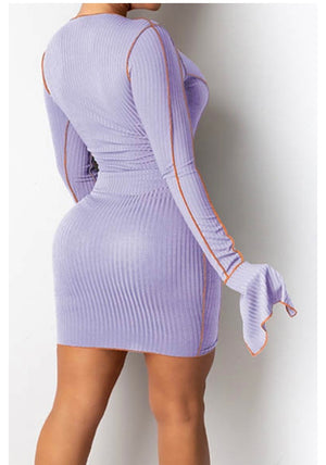 Kayla lace up dress (lavender)