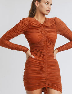 Ginger Dress (Rust)