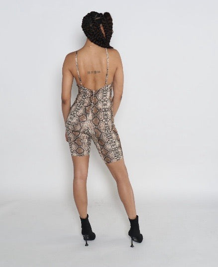 Slither Biker Short Bodysuit
