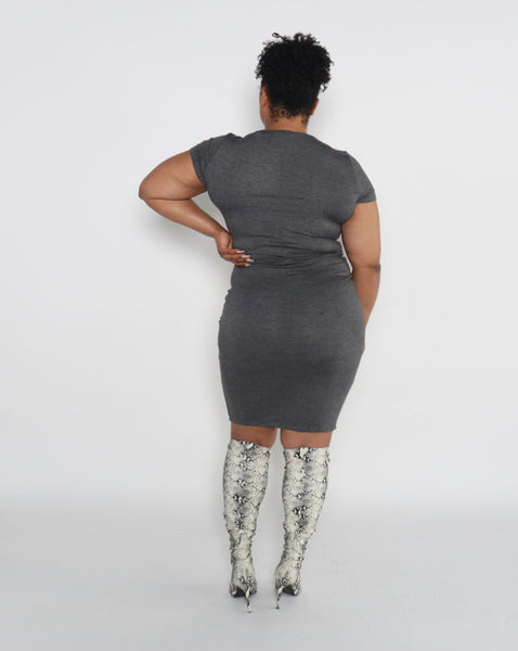 Basic Bodycon Plus (Dark Grey)