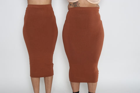 Kimmy Midi Skirt (Brown)