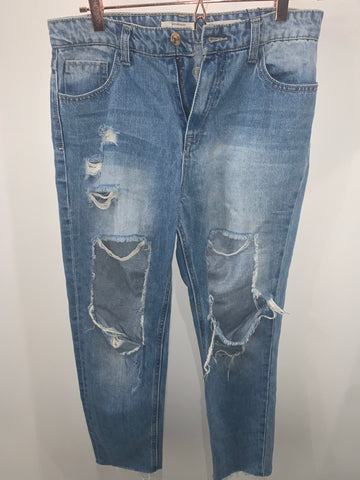 Vintage Distressed Denim (Medium Wash)
