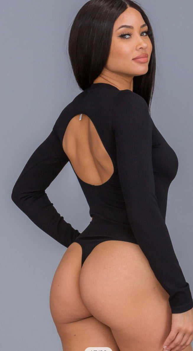 Long Sleeve Bodysuit (Black)