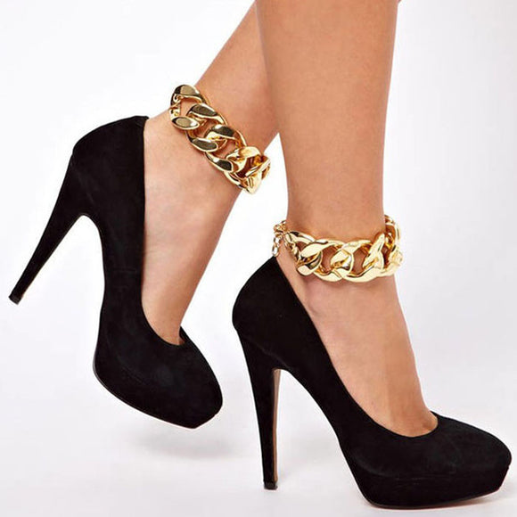 Anklet - Fashion Chic Gold Chain Anklet