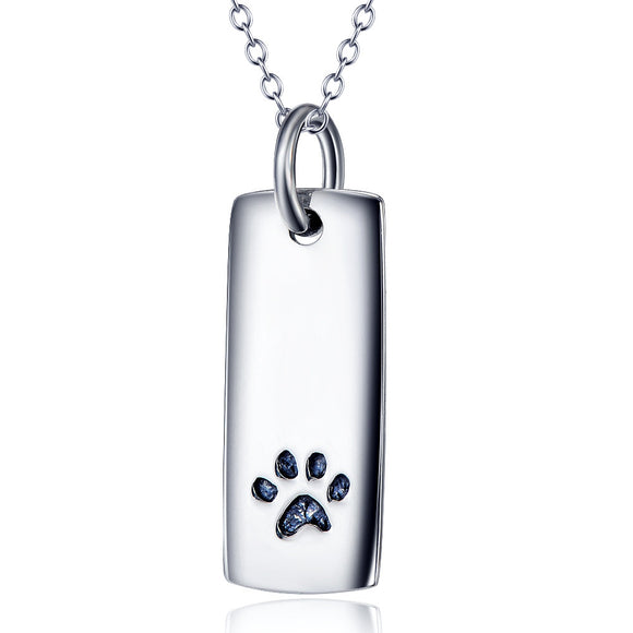 Necklace - S925 Silver Jewelry Women's Necklace Paw Print Pendants