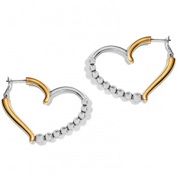Sparkle Heart Leverback Hoops