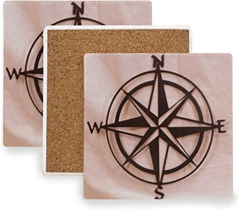 Compass Square Coaster