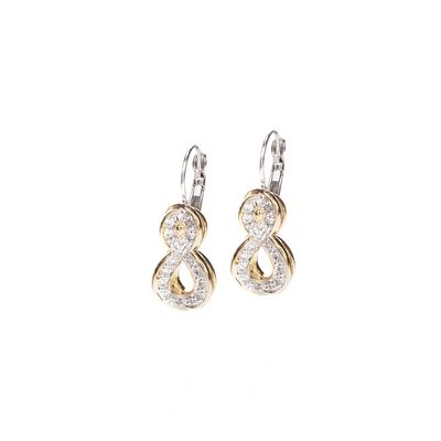 Infinity Collection Pavé French Wire Earrings