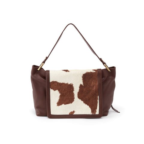 Ventura Cow Print Shoulder Bag