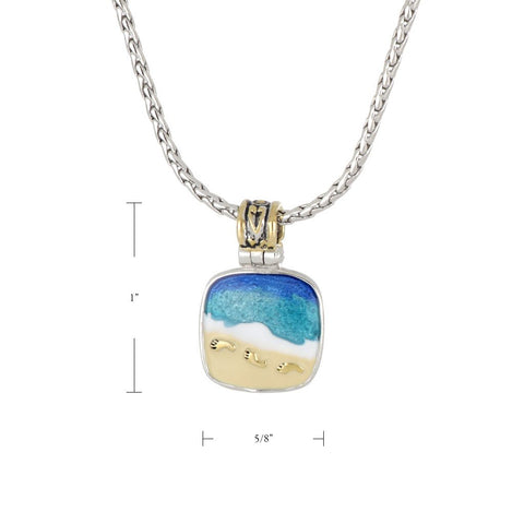Celebration Memories Footprints in the Sand Pendant Necklace