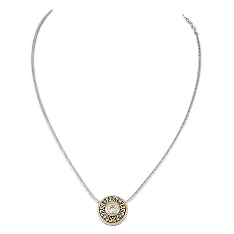 Antiqua Sliding Circle Pendant on Chain