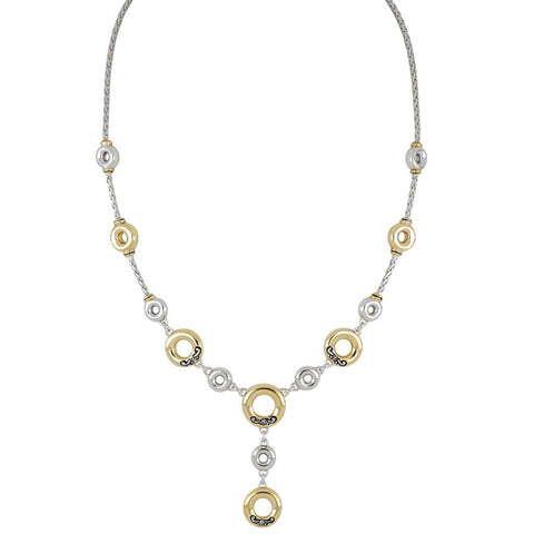 Ciclo D'Amor Two Tone Drop Necklace