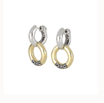 Ciclo D'Amor Two Tone Double Hoop