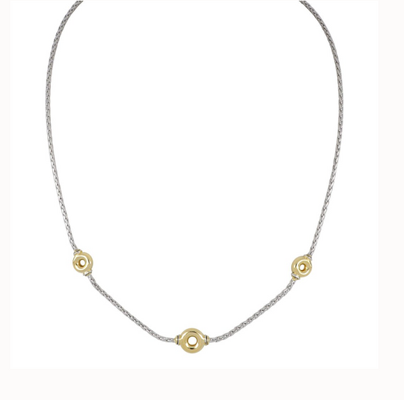Ciclo D'Amor Petitie Two Tone Necklace