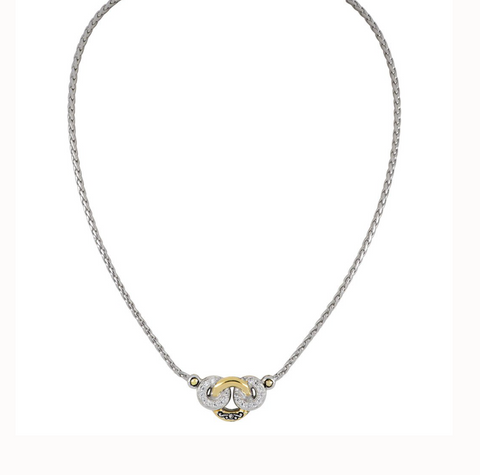 Ciclo D'Amor Pave & Gold 3 Circle Necklace