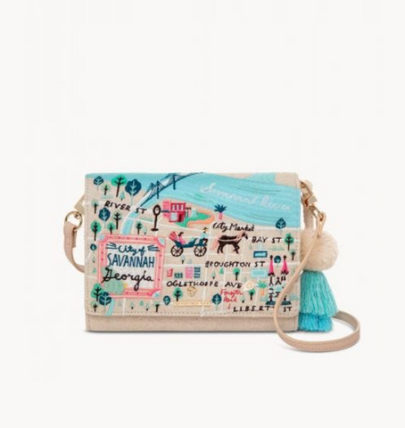 Historic Savannah Embroidered Convertible Crossbody