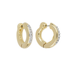 Ciclo D'Amor Small Gold Pavé Huggie Earrings