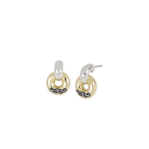 Ciclo D'Amor Petite Two Tone Post Earrings