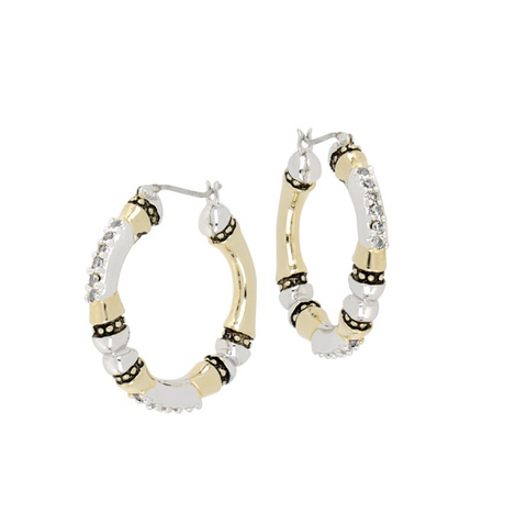 Canias Pavé Large Hoop Earrings