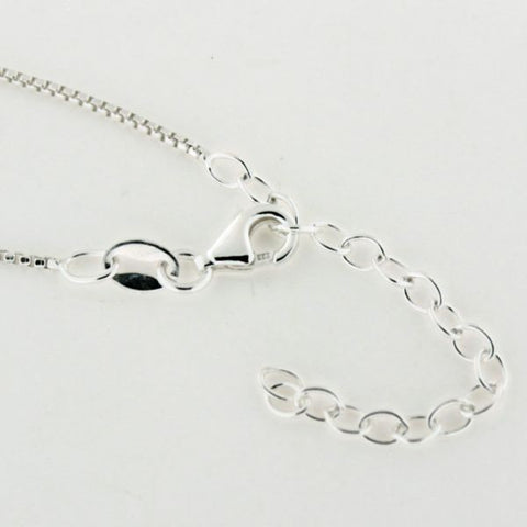 1.0mm Sterling Silver Rounded Box Chain with Extender