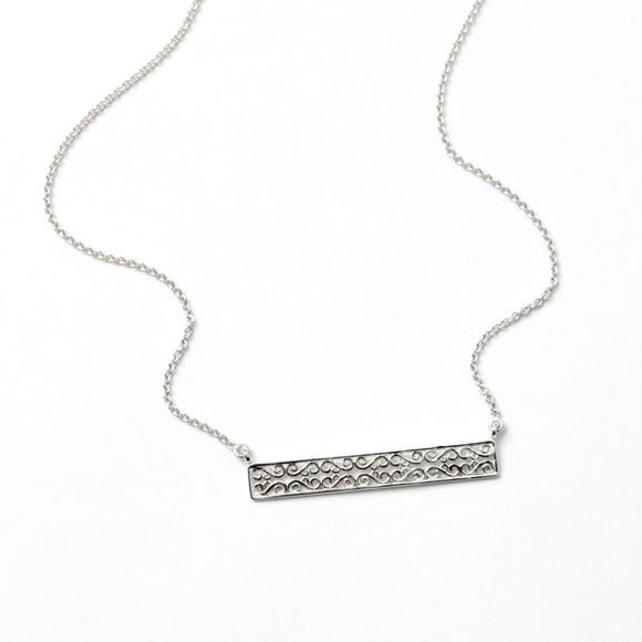 Southern Gates Rhodium Rhodium Plated Horizontal Necklace