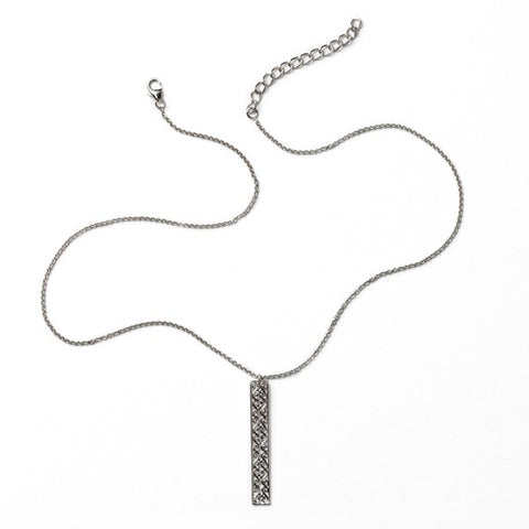 Southern Gates Rhodium Plated Balcony Vertical Necklace