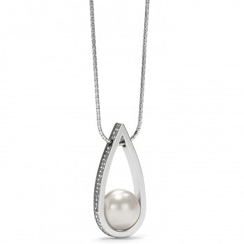 Chara Ellipse Spin Long Necklace Pearl