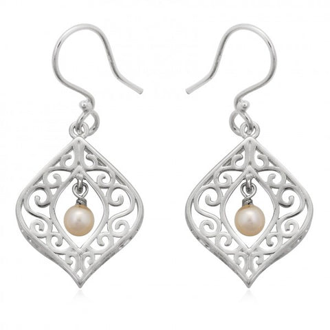 Southern Gates Framed Drop Pearl Earrings