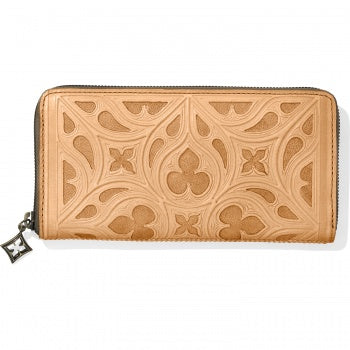 Ferrara Toscana Zip Wallet Natural