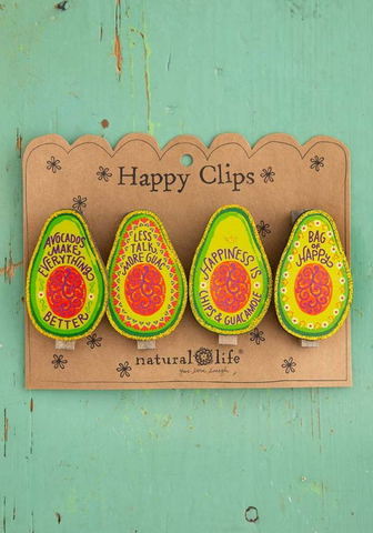 Avocado Magnet Happy Clips