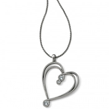 Infinity Sparkle Heart Necklace