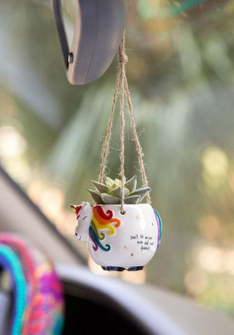 MINI HANGING SUCCULENT UNICORN