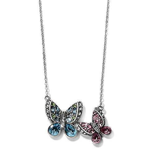 Trust Your Journey Love Butterflies Reversible Necklace