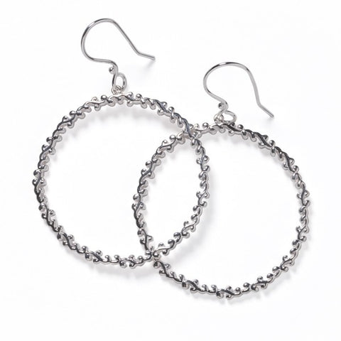 Southern Gates Filigree Open Circle Earrings