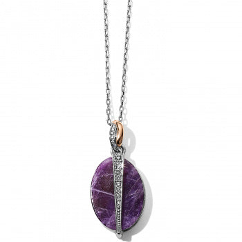 Neptune's Rings Oval Amethyst Reversible Short Necklace