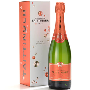 Taittinger Les Folies de la Marquetterie  Champagne in Gift Box 6 Bottle Case 75cl