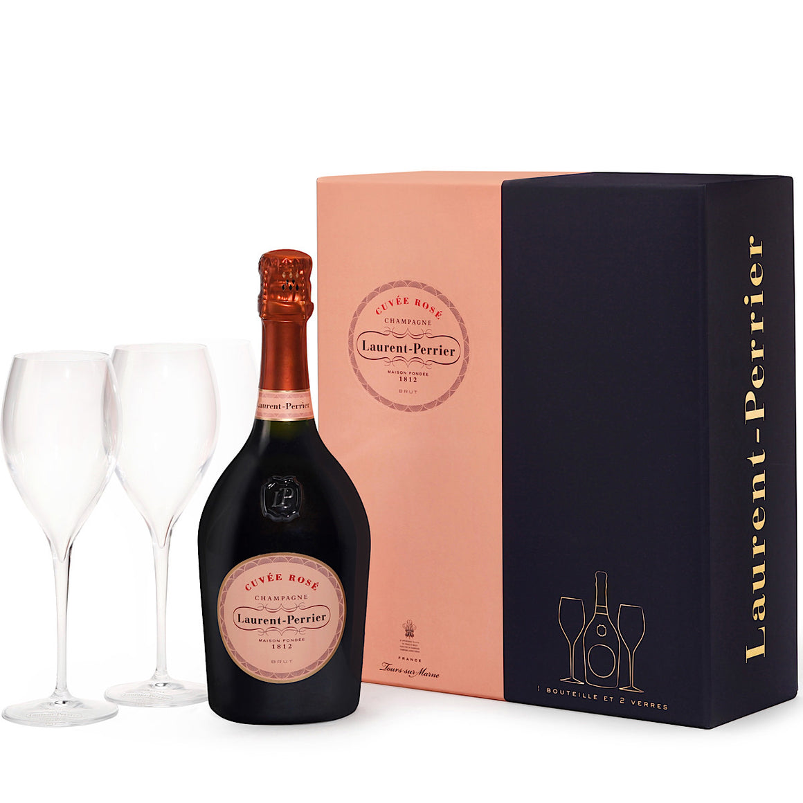 Laurent Perrier Rose Champagne 2 Glass Gift Pack 75cl
