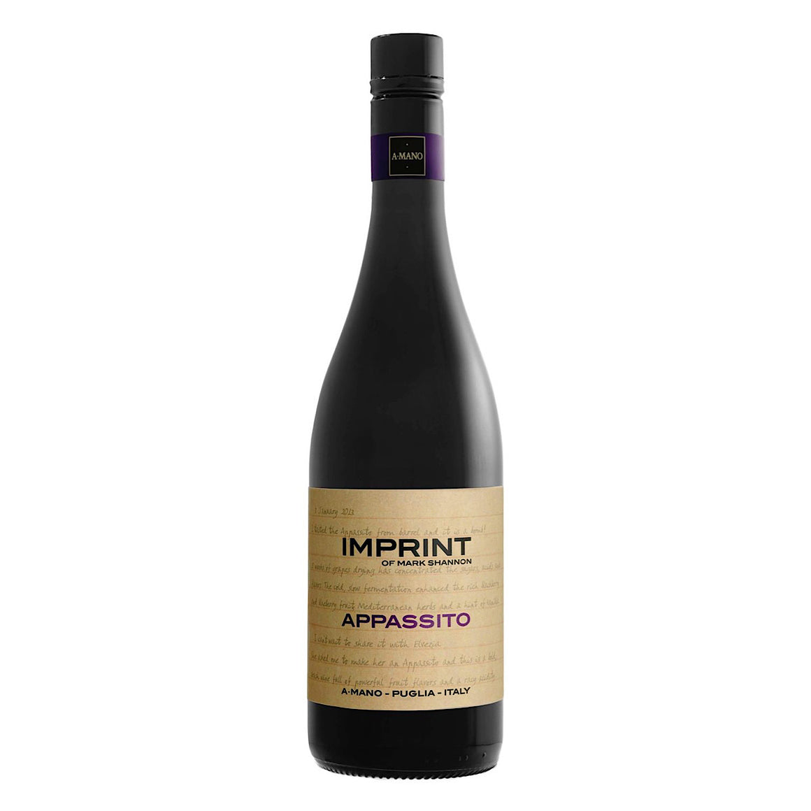 A Mano`Imprint` Primitivo Appassito 6 Bottle Case 75cl