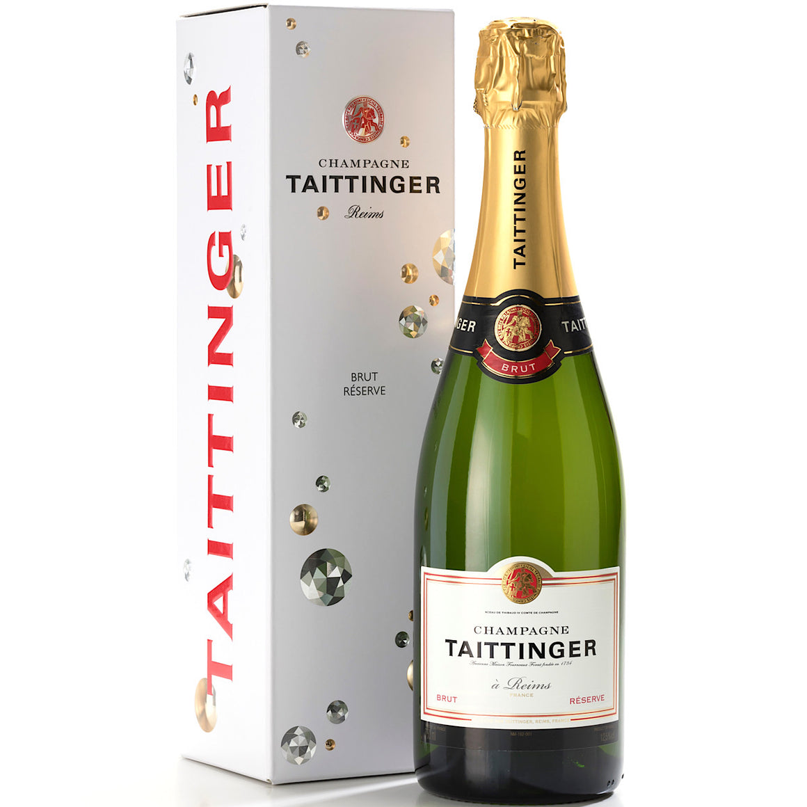 Taittinger Brut Reserve NV Champagne Gift Box 6  Bottle Case 75cl