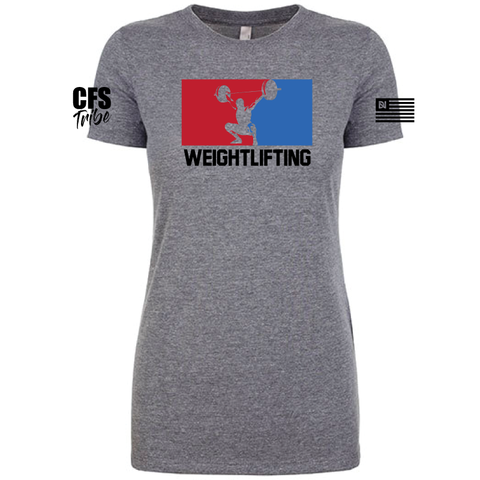CFS Weightlifting Frauen Tee - Premium Grey