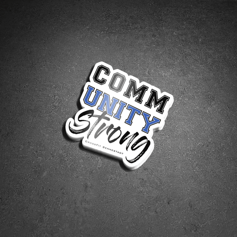 CommUNITY Strong - Sticker