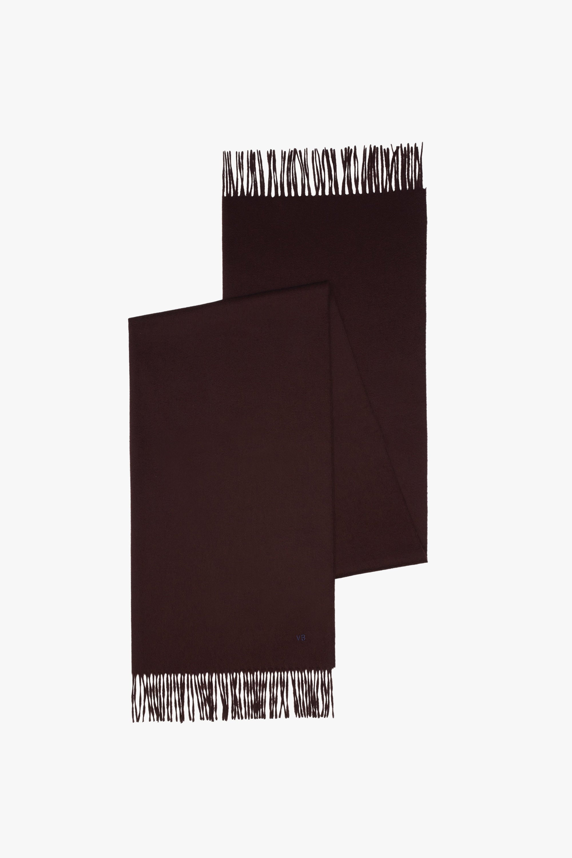 Wide Cashmere Fringed Scarf