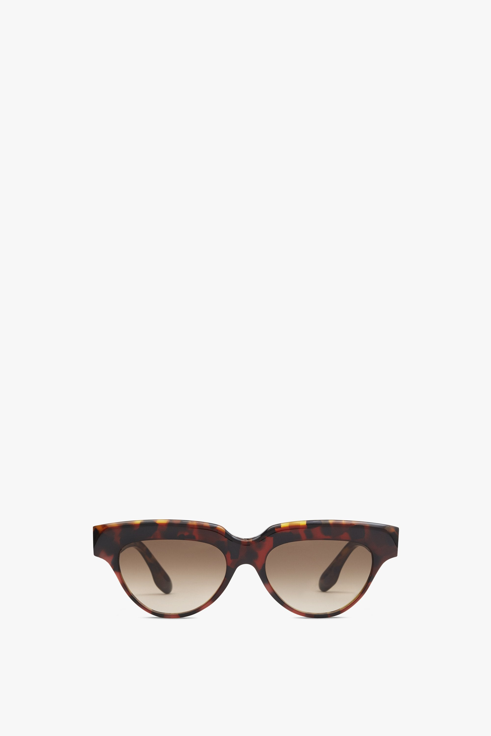 Bevelled Small Cat-Eye in Tortoise