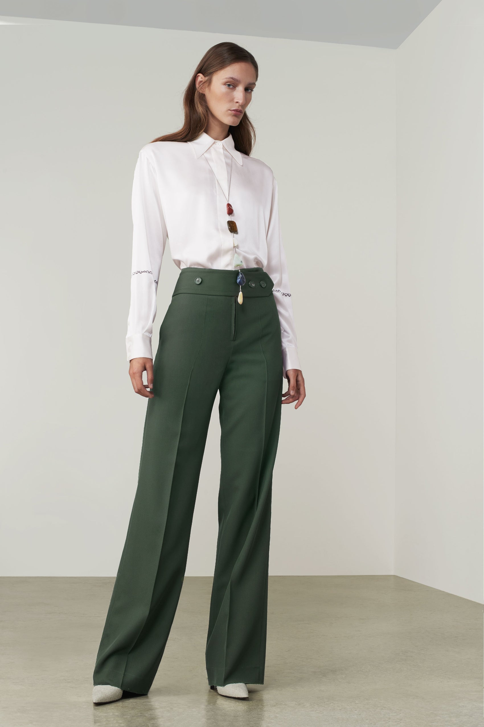 Green wide trousers - Autumn/Winter 2019 must-haves