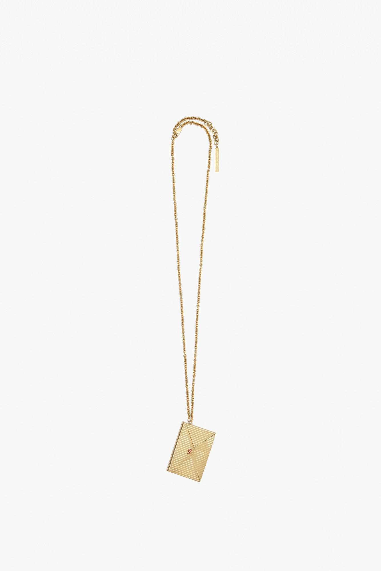 Envelope Necklace In Gold