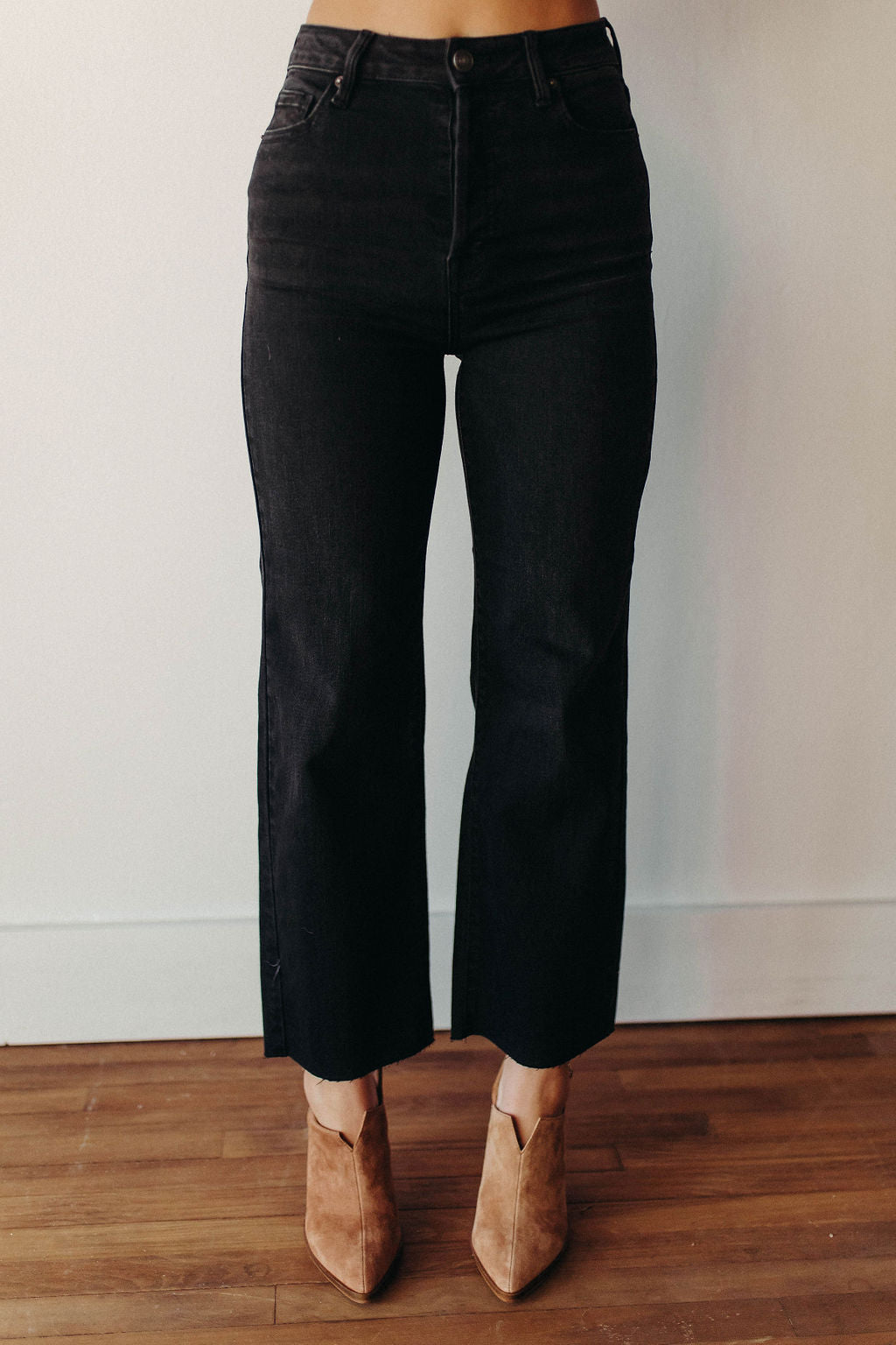 HIDDEN JEANS TRACEY | WASHED BLACK HIGH RISE JEANS