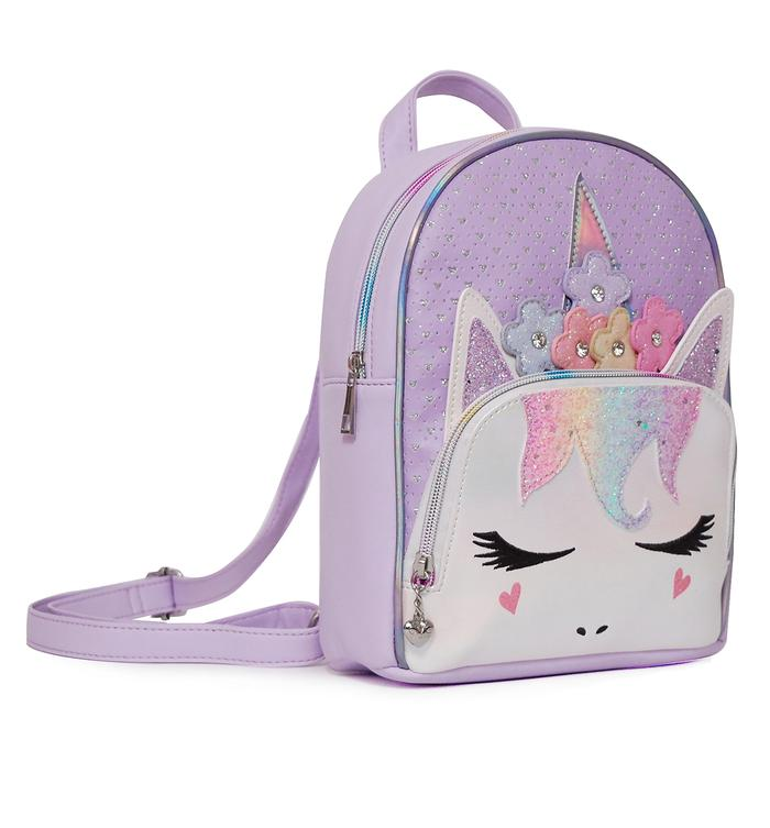 OMG KIDS FLOWER CROWN MISS GWEN PERFORATED LAVENDER MINI BACKPACK